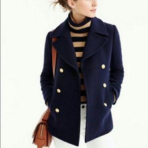 J. Crew Jackets & Coats - J Crew wool navy pea coat